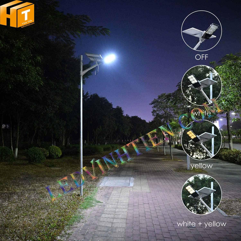 Đèn đường led năng lượng mặt trời 120W pin rời, giá rẻ, Ledvinhtien.com