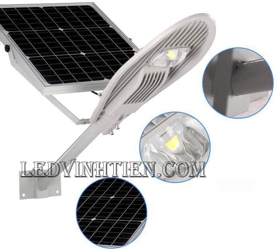 Đèn đường led năng lượng mặt trời 100W chiếc lá loại tốt, giá rẻ, ngoài trời, không tốn điện