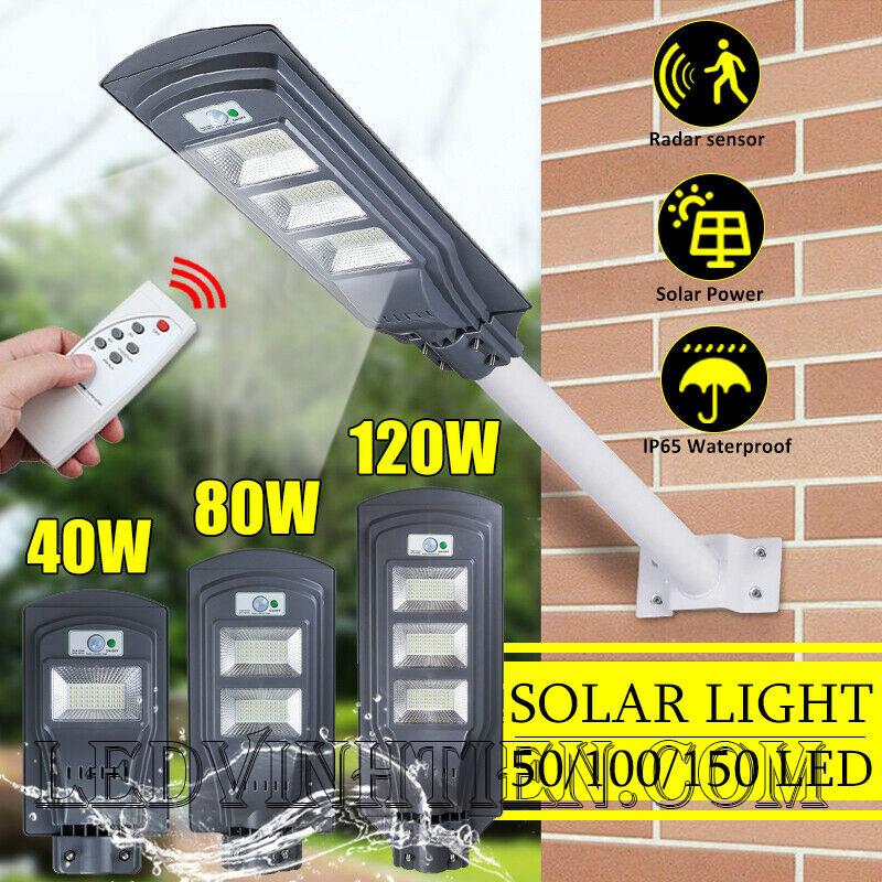 Đèn đường led năng lượng mặt trời 90W pin liền thể, giá rẻ, Ledvinhtien.com