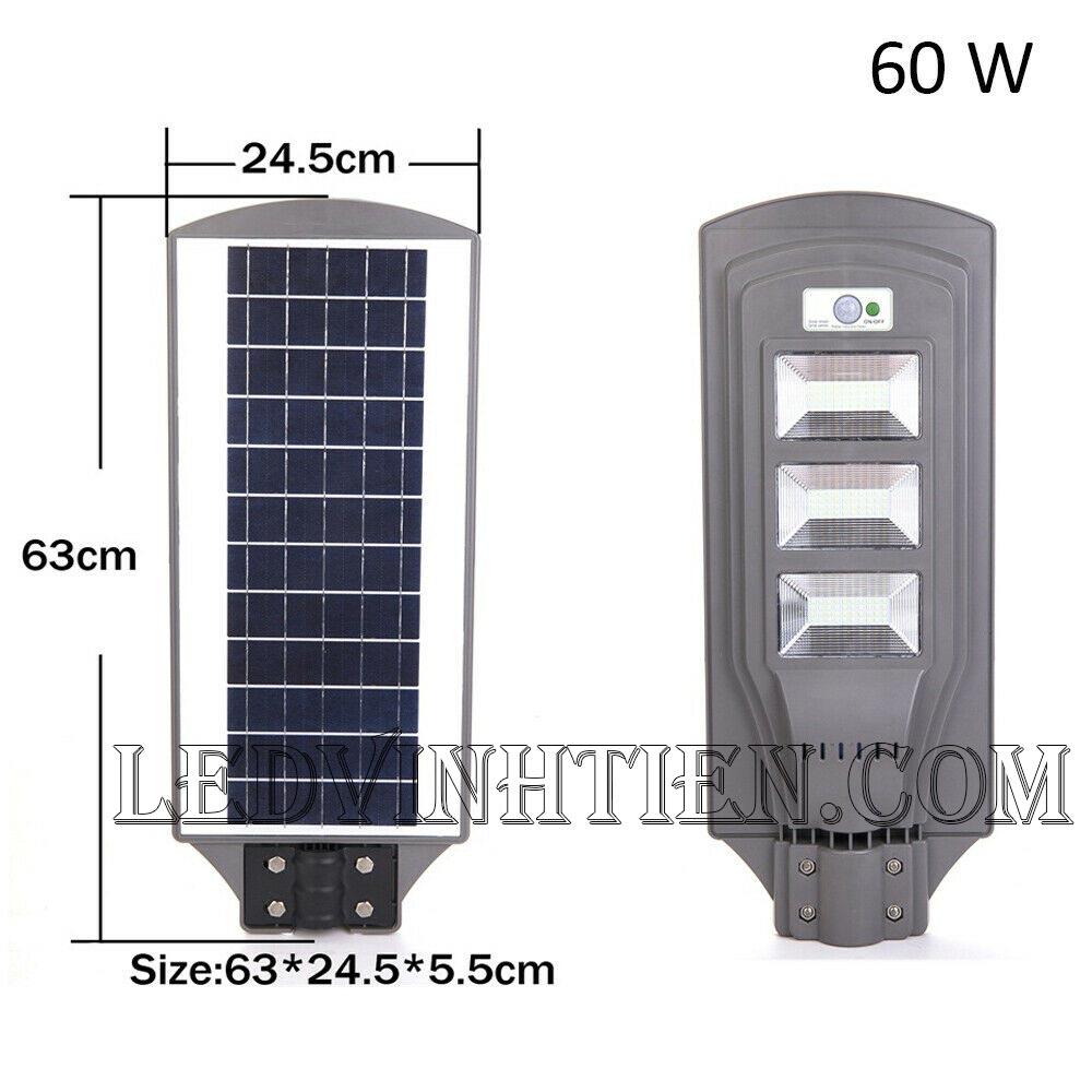 Đèn đường led năng lượng mặt trời 90W pin liền thể loại tốt, giá rẻ, ngoài trời, ánh sáng trắng, vàng pin dính liền