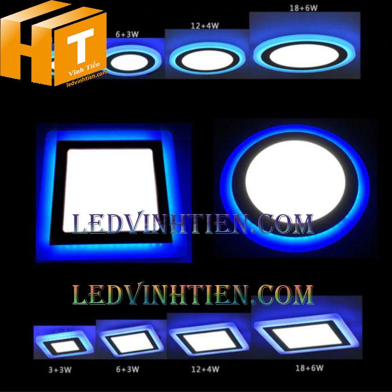 Đèn led âm trần vuông 8+4w 3 chế độ giá rẻ