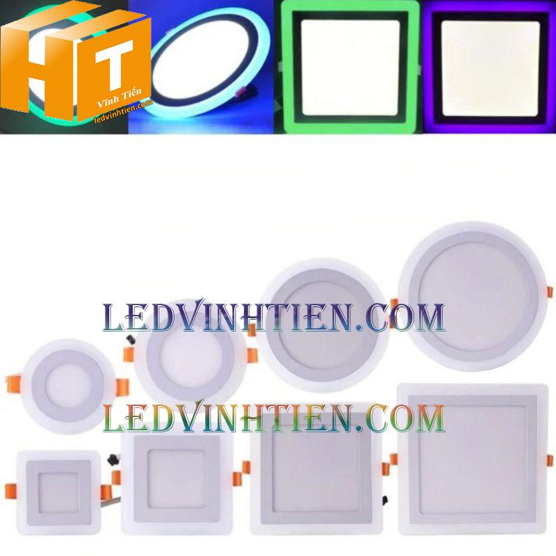 Đèn led downlight âm trần vuông 8+4w