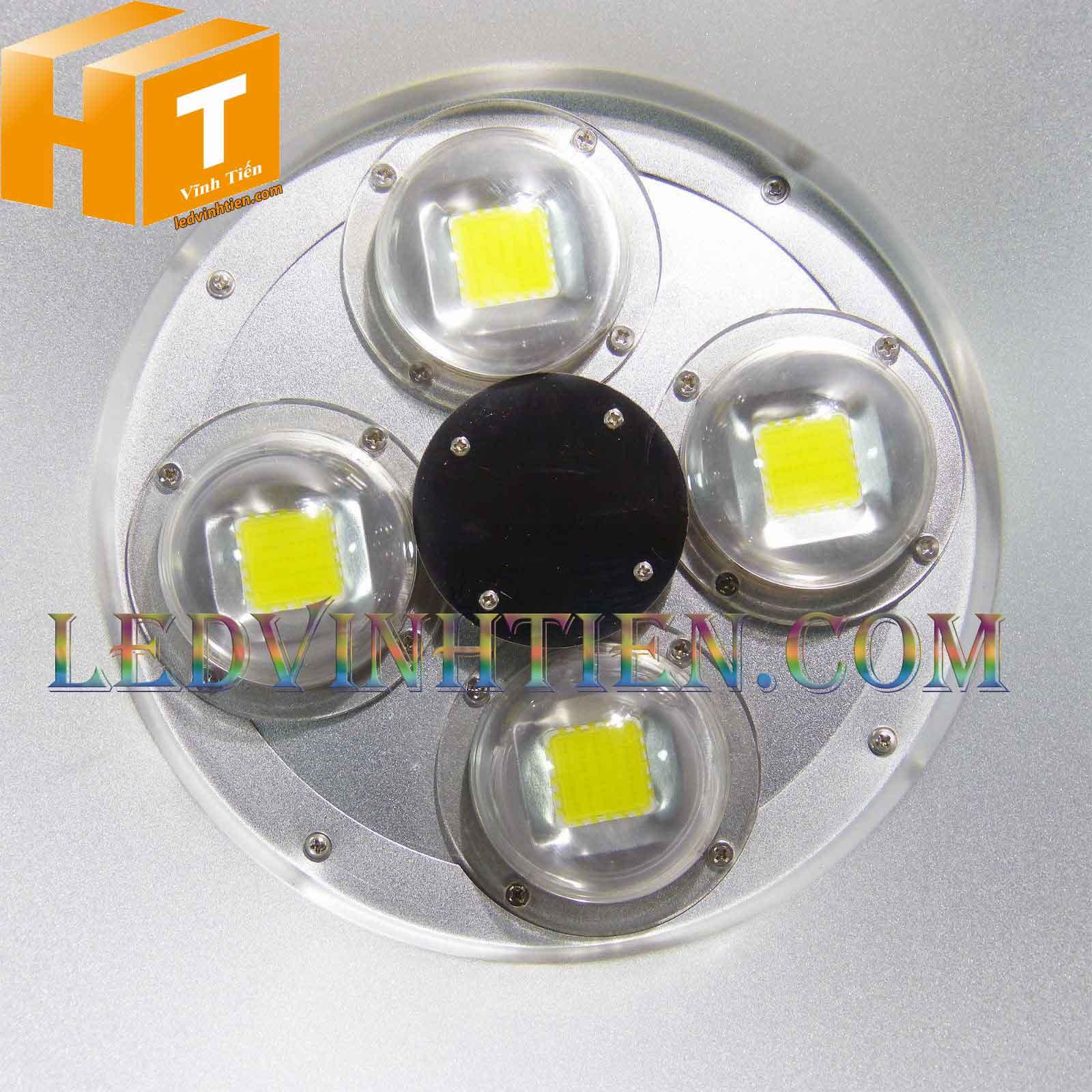 Đèn led nhà xưởng 200W loại tốt, giá rẻ, đủ công suất, ánh sáng trắng, vàng