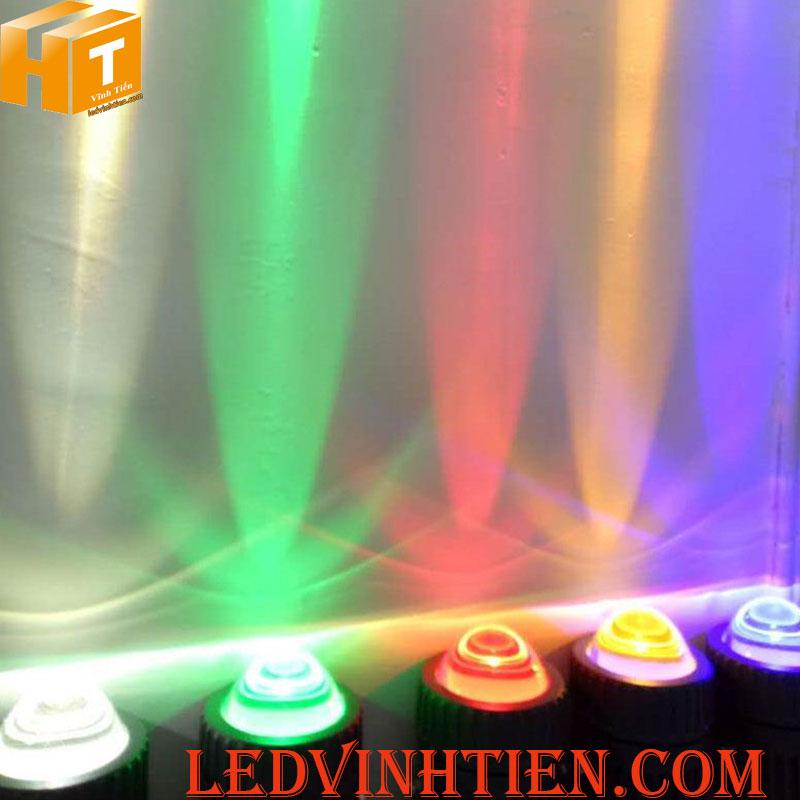 Đèn led chiếu cột 10W RGB loại tốt, giá rẻ, ngoài trời, ledvinhtien.com