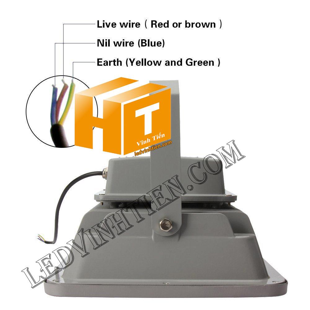 hướng dẫn cách cài đặt và đấu nối đèn pha led 400W vỏ xám, ledvinhtien.com