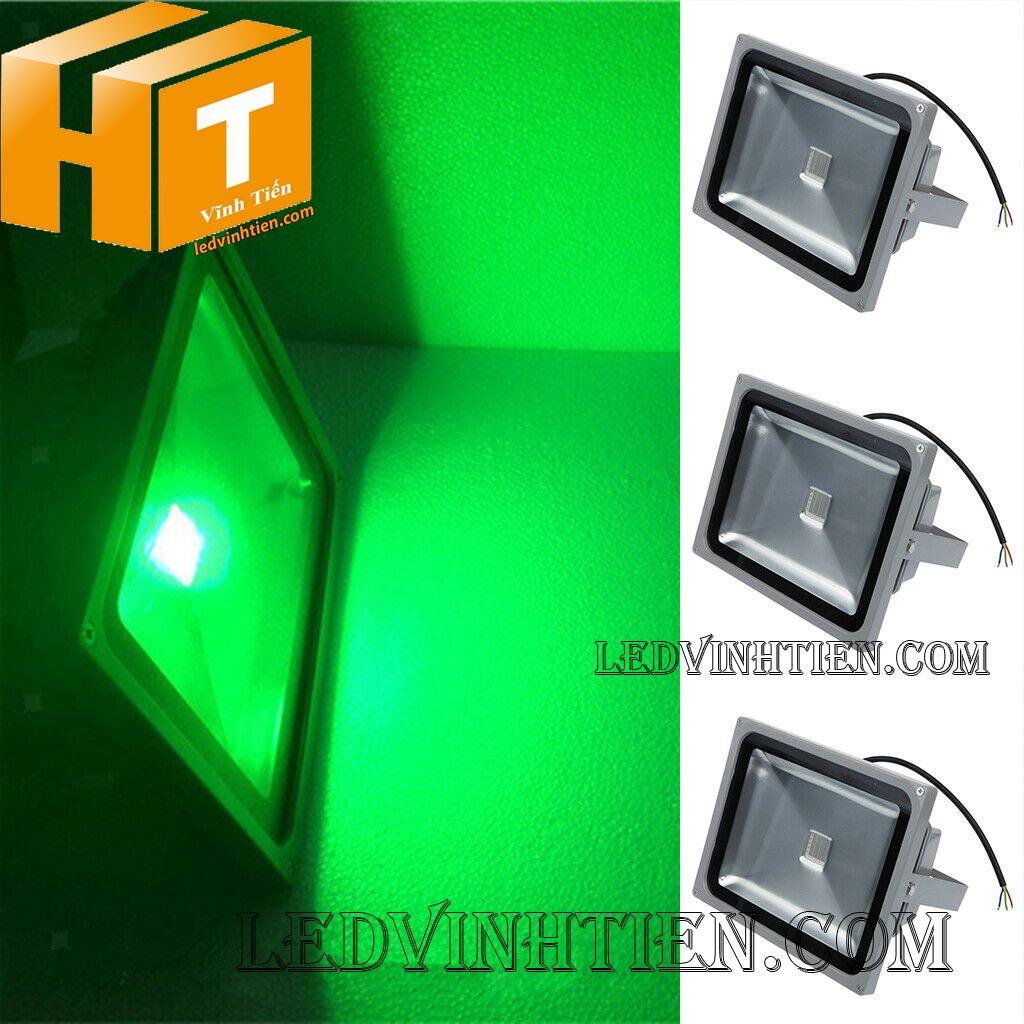 Đèn pha led 50w RGB remote loại tốt, giá rẻ, ngoài trời, chính hãng ledvinhtien.com