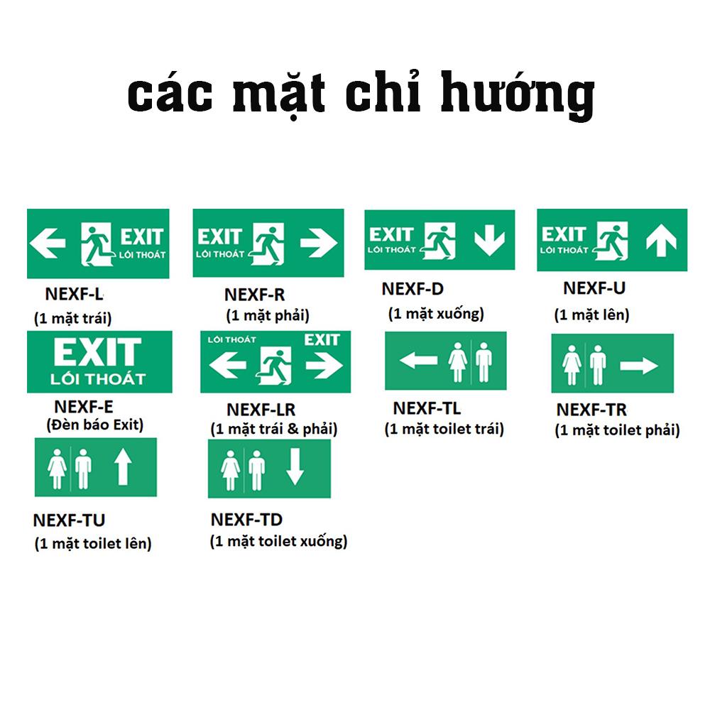 các mặt chỉ dẫn đèn báo exit