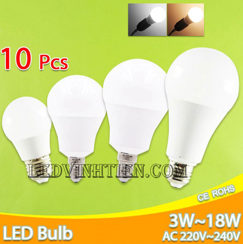 Bóng đèn led búp 9W loại tốt, giá rẻ, Ledvinhtien.com