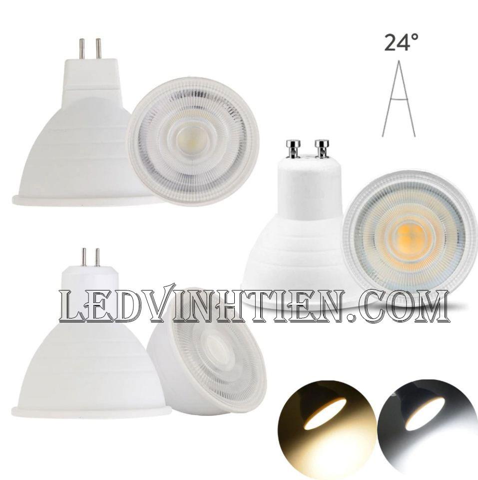 Bóng led ghim 2W, đèn led cốc loại tốt, giá rẻ, đui MR16, GU10, GU5.3, E14, E27, chính hãng ledvinhtien.com