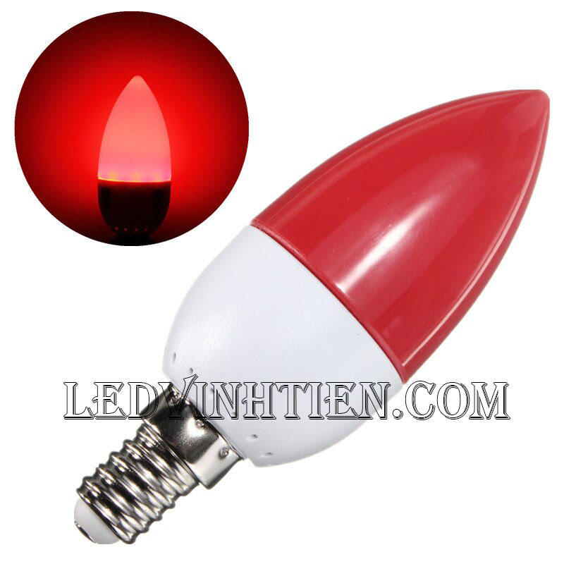 Bóng nến trái ớt E14 loại tốt, giá rẻ, chất lượng, siêu sáng