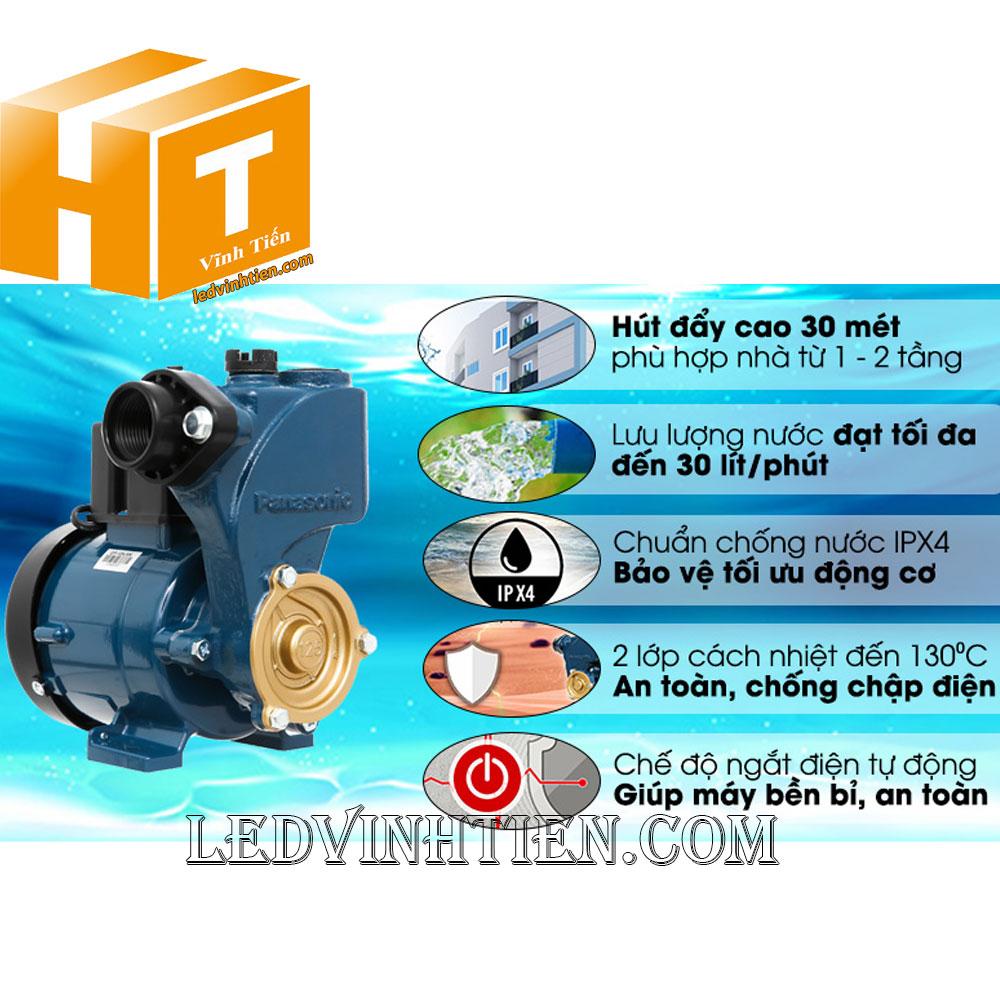 Máy bơm nước đẩy cao GP-129JXK-SV5 Panasonic, nanocoloại tốt, giá rẻ, chất lượng, chính hãng
