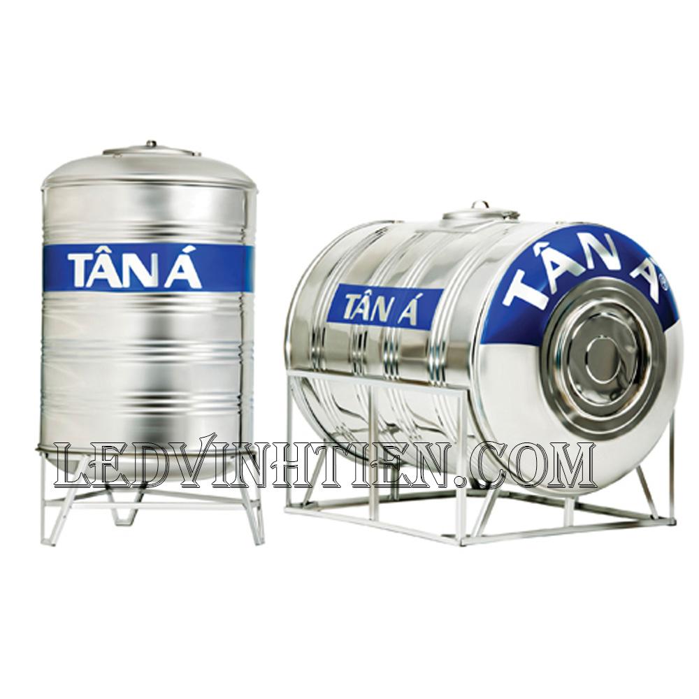Bồn nước inox Tân Á - 2000N (Ø1140) ngang loại tốt, giá rẻ, chiết khấu cao, ledvinhtien.com