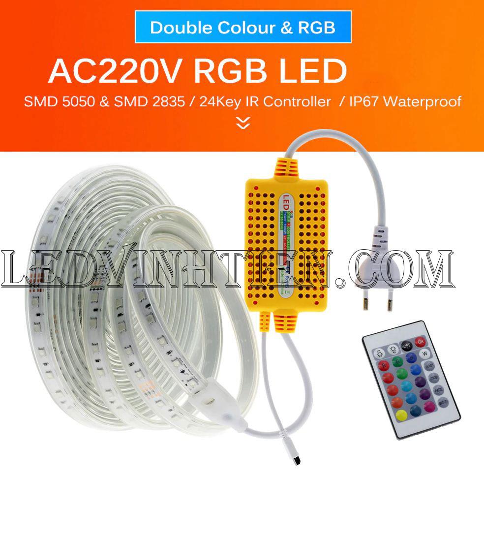 Bộ điều khiển led dây 220V RGB loại tốt