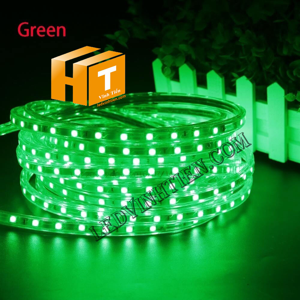 ledvinhtien.com hình ảnh chụp mọi góc cạnh của đèn led dây 220V chíp led 5050 ánh sáng màu trắng loại tốt, giá rẻ, chất lượng, siêu sáng, dùng chiếu sáng ngoài trời, hắt trần, quấn cây, trang trí nội thất, ngoại thất, chiếu sáng công viên, xem thêm led dây màu xanh lá