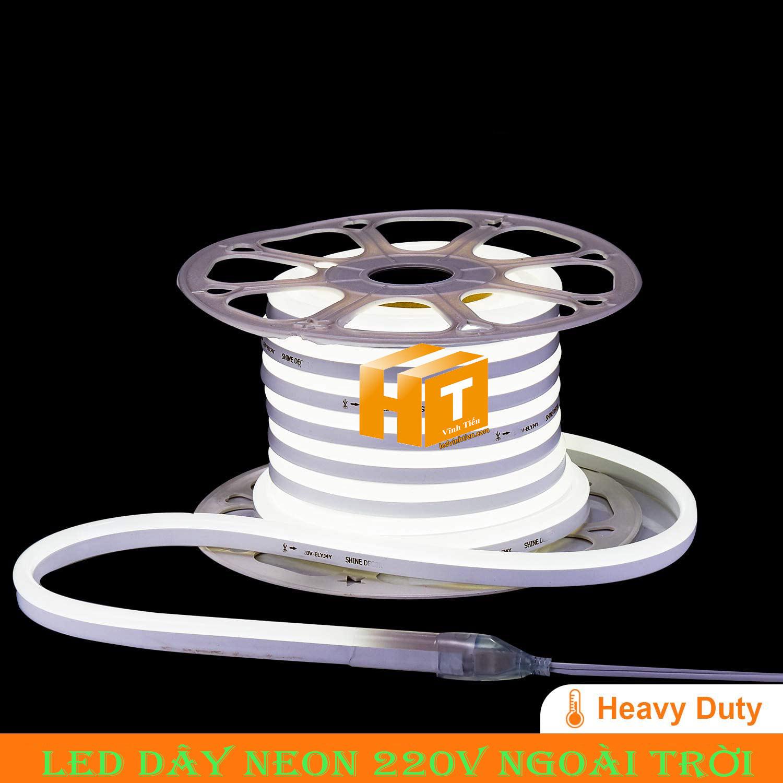 Led dây Flex Neon 220V cuộn 50m, 100m, ánh sáng màu trắng, Led Neon Sign 220V viền trang trí,đèn decor, hắt trần thạch cao , quấn cây, trang trí cà phê, nhà hàng, khách sạn, led 2835 , led 5050 giá rẻ, loại tốt, chất lượng, dùng chiếu sáng trong nhà, ngoài trời. LED Neon Flex hiệu ứng sáng mờ, hoàn hảo. Dây mềm dễ uốn dẻo. Trang trí nội ngoại thất ưu việt. Điện áp 220V, chống mưa tiêu chuẩn IP65, 66, 67, dễ sử dụng, dể đấu nối, phân phối sỉ bởi công ty đèn led vĩnh tiến, ledvinhtien.com