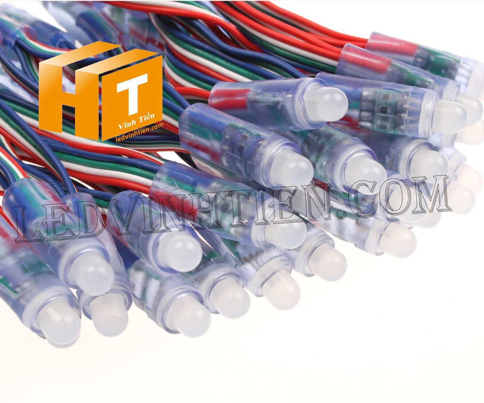 Led đúc full color IC1903 loại tốt, giá rẻ, siêu sáng, dùng làm pháo hoa, chử nỗi, trang trí noel, bảng quảng cáo, chiếu sáng ngoài trời, IP68, ledvinhtien.com