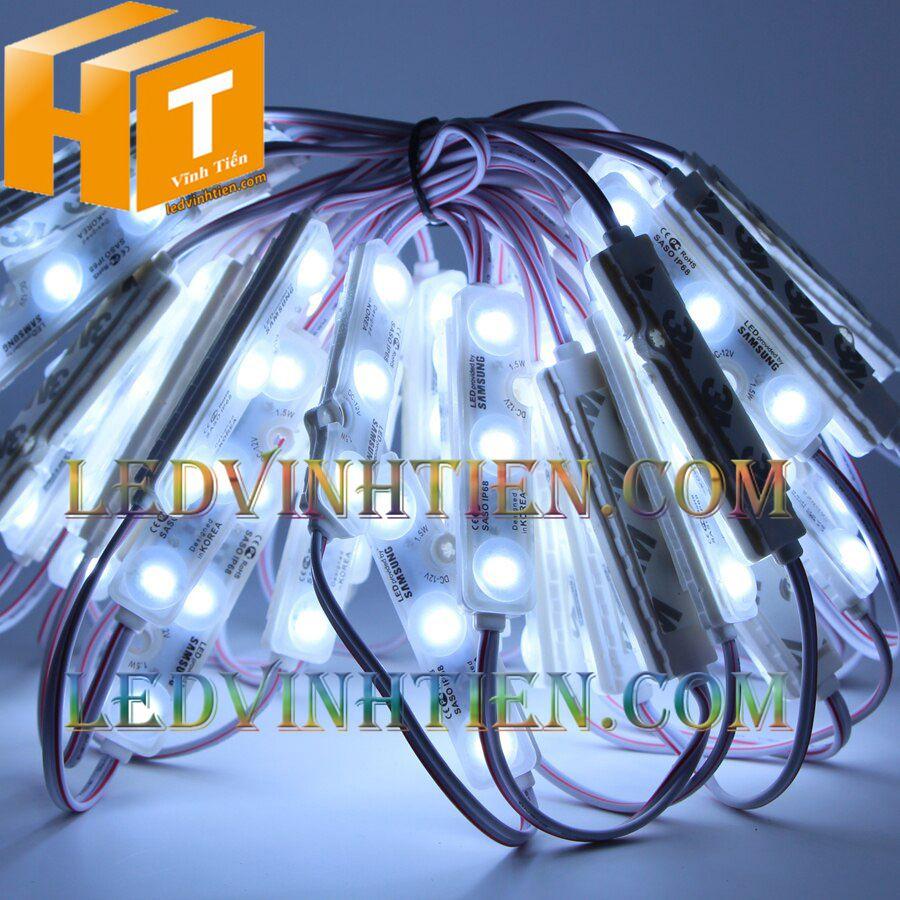 Đèn Led hắt 3 bóng SaSo, samsung hàn quốc 1.5W, sáng vàng nắng, giá rẻ, ledvinhtien.com