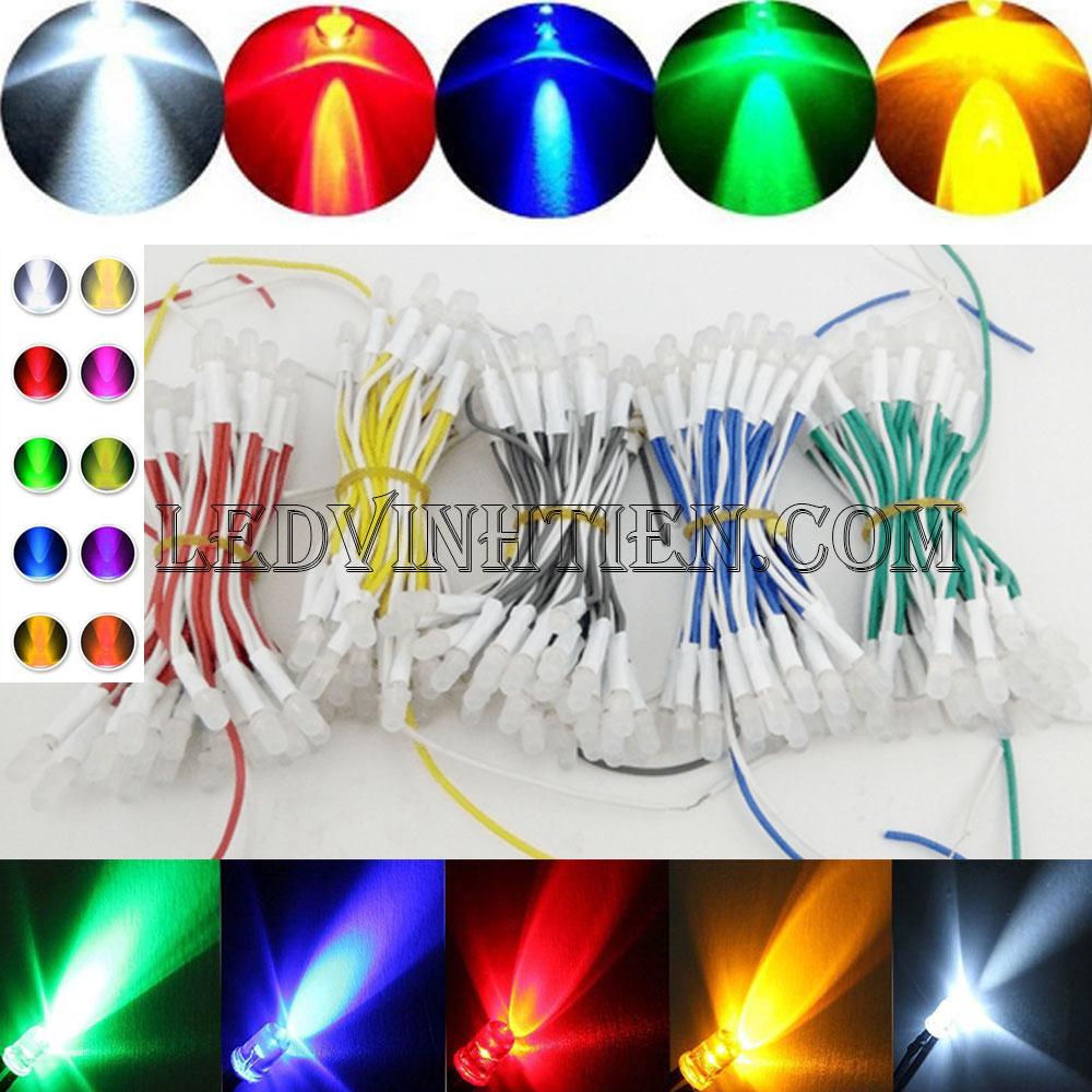 Led liền dây, Led ruồi màu trắng 5V 5mm, F5 loại tốt, giá rẻ, siêu sáng, chiếu sáng ngoài trời, ledvinhtien.com