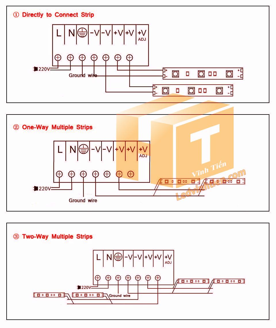 cách đấu nguồn cho đèn led và các thiết bị khác tương tự