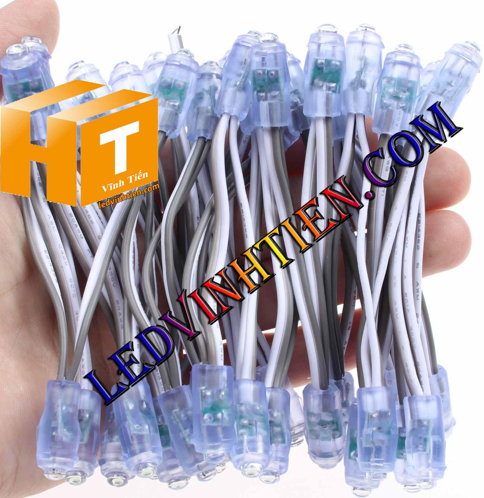 bóng Led đúc F5 màu trắng loại tốt, giá rẻ, ngoài trời, Ledvinhtien.com