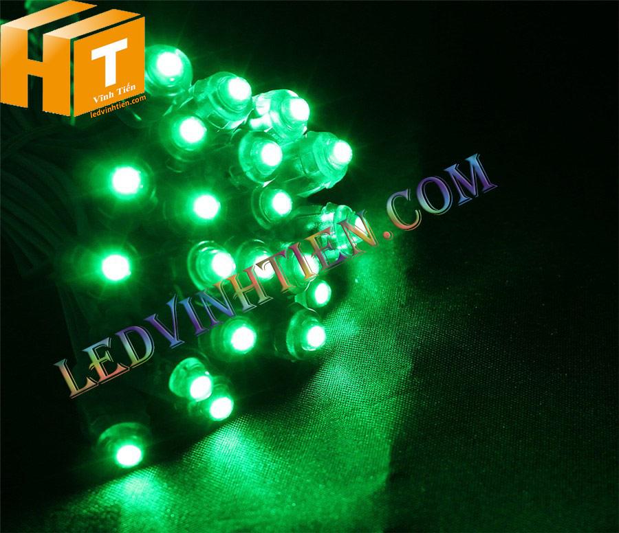 Bóng Led đúc f5 màu trắng loại tốt, giá rẻ, siêu sáng, dây đồng, dùng hắt chử, logo quảng cáo
