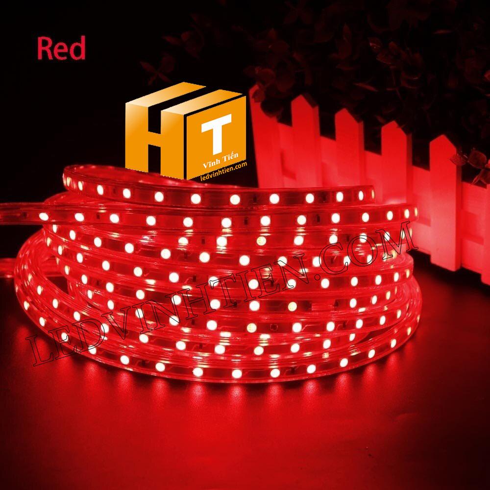 ledvinhtien.com hình ảnh chụp mọi góc cạnh của đèn led dây 220V chíp led 5050 ánh sáng màu vàng loại tốt, giá rẻ, chất lượng, siêu sáng, dùng chiếu sáng ngoài trời, hắt trần, quấn cây, trang trí nội thất, ngoại thất, chiếu sáng công viên, xem thêm màu đỏ