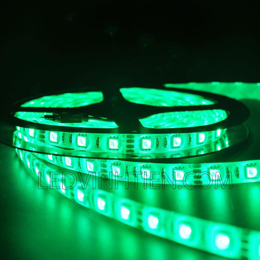 Led dây dán 5054 siêu sáng ánh sáng màu xanh lá cây, chip led cao cấp, hiệu samsung phân phối sỉ trên toàn quốc như tphcm, hà nội, bình dương, đà nẵng, cần thơ, tuy hòa phú yên. Led dây 5054 dùng chiếu sán ngoài trời, trong nhà, chiếu sáng biển hiệu, hắt trần, tủ kệ trưng bày, bếp, quầy bar, khu vui chơi giải trí, phân phối chính hãng led dây samsung tại ledvinhtien.com