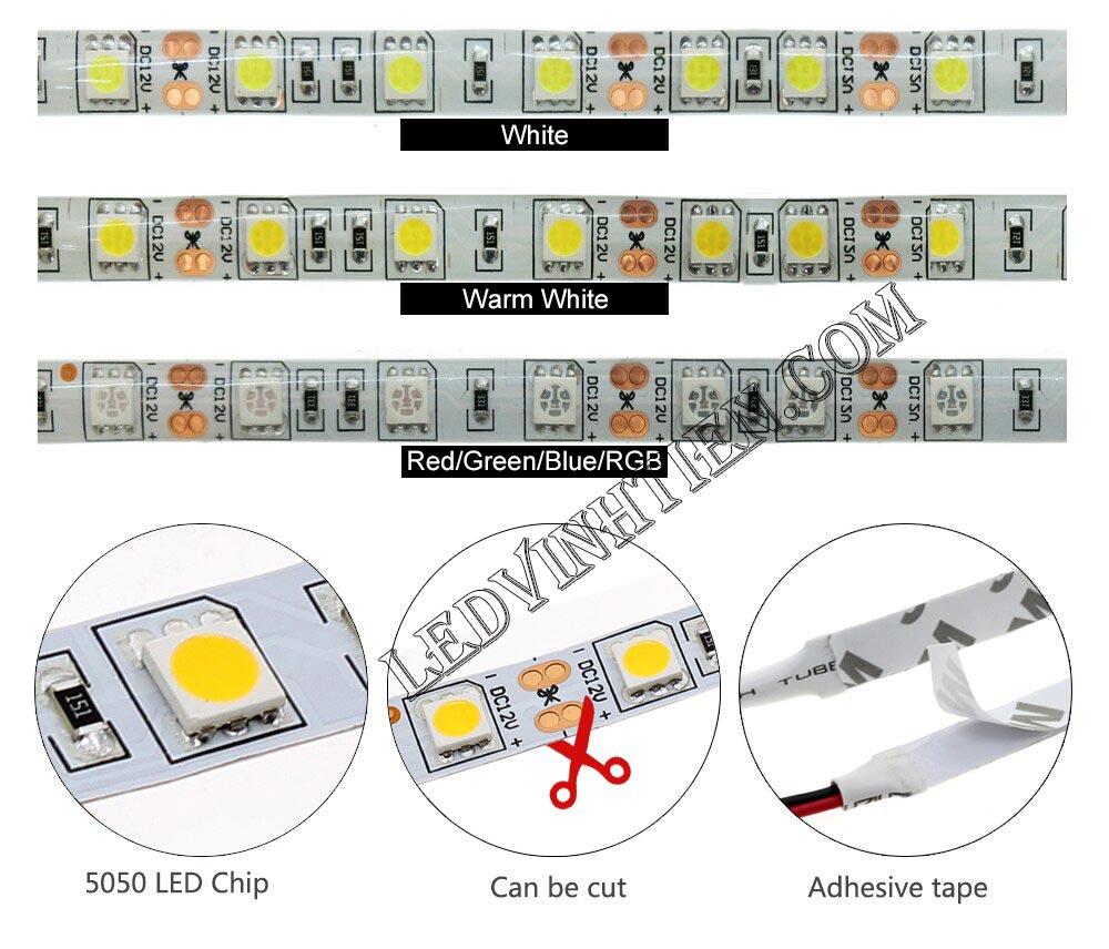 LEDVINHTIEN.COM, ĐÈN LED DÂY DÁN 12V CHÍP LED SMD 5054 bảy màu, nhiều màu, RGB có remote điều khiển, CÓ KEO 2 LỚP hoặc không keo, LOẠI TỐT, GIÁ RẺ, CHẤT LƯỢNG, CHÍNH HÃNG LEDVINHTIEN.COM, SIÊU SÁNG, LED DÂY 12V DÙNG CHIẾU SÁNG NỘI THẤT, NGOÀI TRỜI, TRANG TRÍ TRẦN, HẮT TỦ KÍNH, KỆ, QUẦY BAR, KARAOKE, QUÁN CÀ PHÊN, NHÀ HÀNG, KHÁCH SẠN, HÌNH ẢNH CHỤP NHIỀU GÓC CẠNH CỦA SẢN PHẨM.