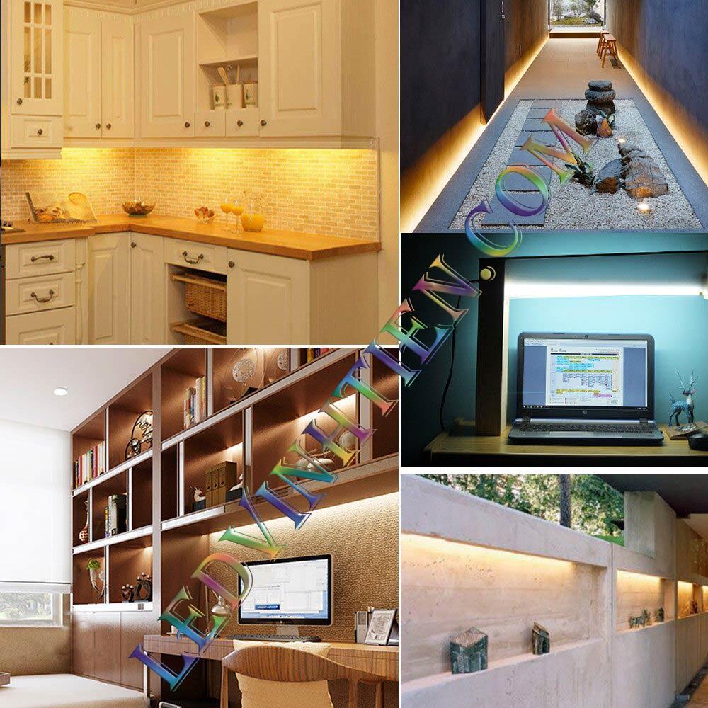 các ứng dụng tiêu biểu của đèn Led thanh nhôm 220V 2835 loại tốt, giá rẻ, dùng chiếu sáng trần, tủ bếp, kệ trưng bày, phòng khách, quầy bar, viền, logo, sản phẩm của ledvinhtien.com, xem hình ảnh minh họa chi tiết